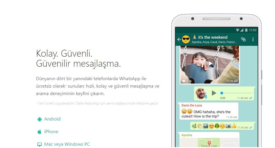 whatsapp eski mesajları geri yükleme