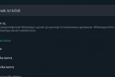 whatsapp parmak izi kaldırma