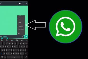 whatsapp şekilli yazı yazma